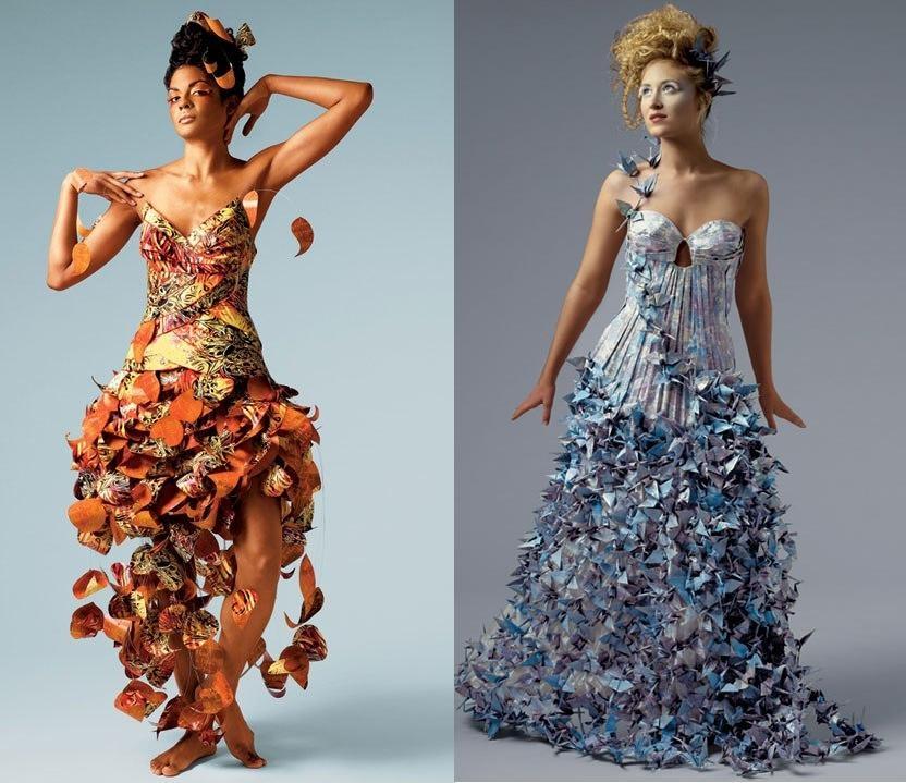 Платье из подручного материала: мастер класс своими руками 75