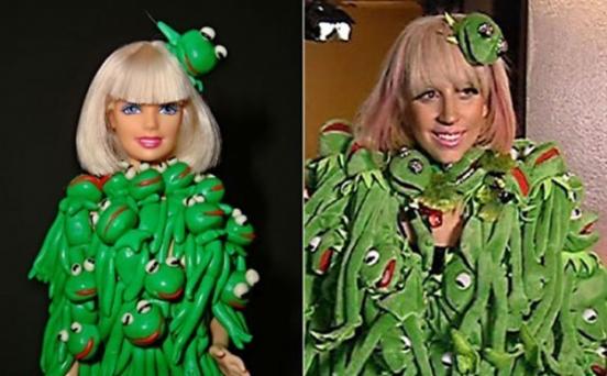 Фото - Знаменитость - Кукла Барби в образах Леди ГаГа.