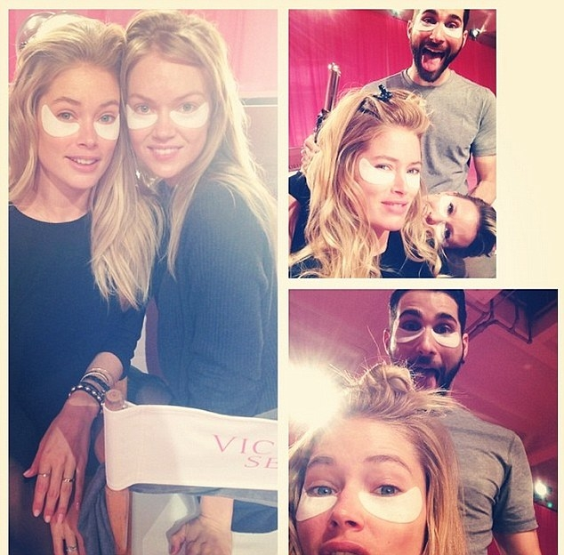 Backstage fun at victoria's secret