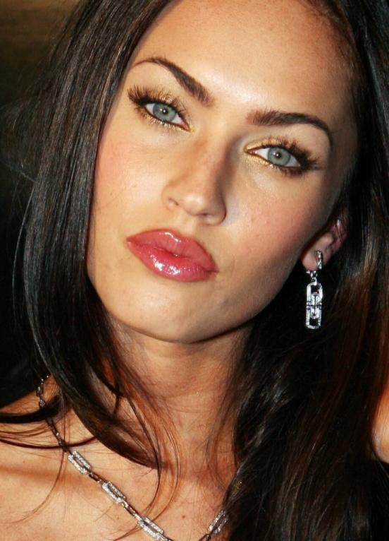 Меган фокс фото с макияжем