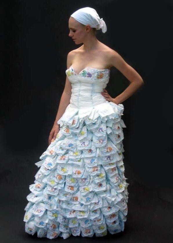 Фото платья из пакетов
