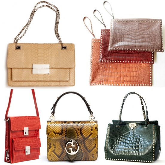 модные сумки и клатчи в 2012 году.