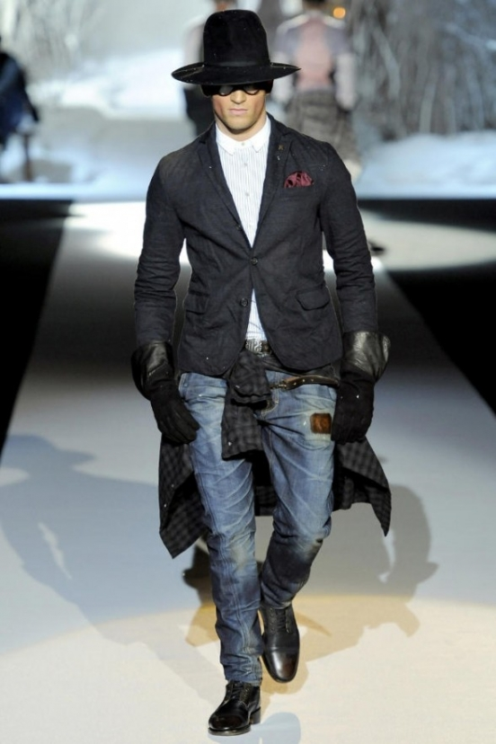 Мужская модная одежда осень-зима 2011-2012 от Dsquared²
