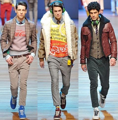 Мужская Мода Зима 2014