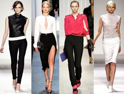 Блузки 2012 в стиле минимализм - лаконичны по крою и наличию...