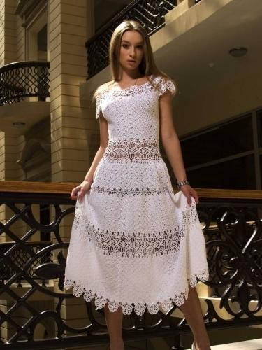 Люба сергеева платья крючком