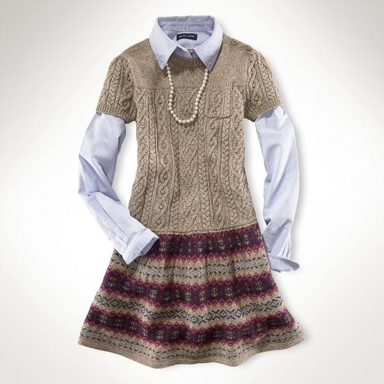 Вязаные платья для девочек / фото 2019