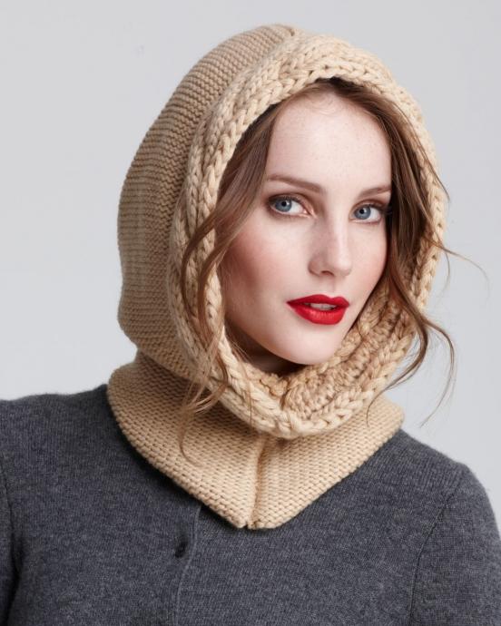 Женские шапки вязаные спицами