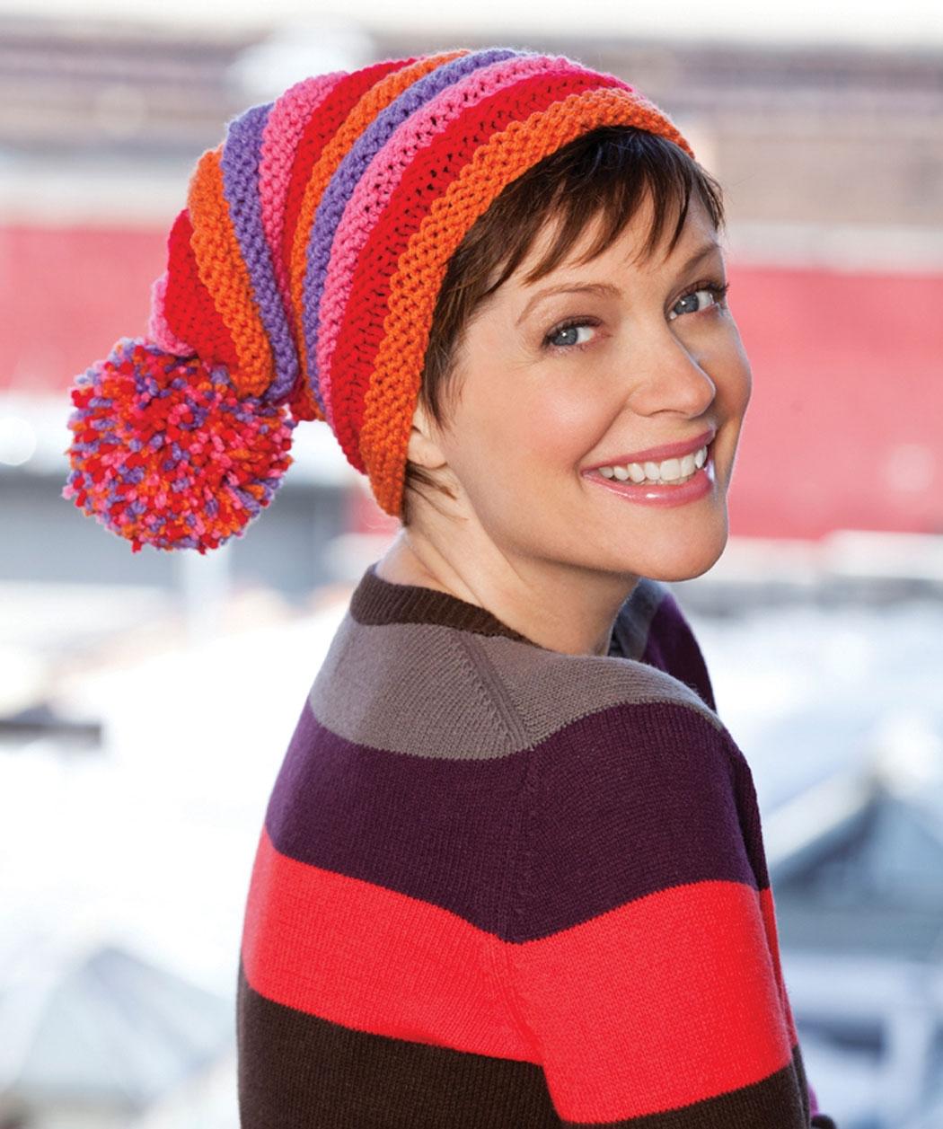 схема вязания шапки-капар