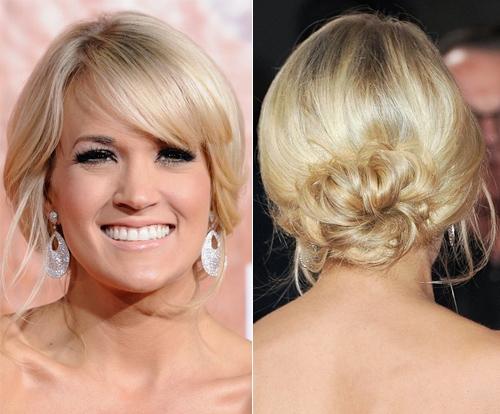 1 1ll carrie underwood Весільні зачіски: приклад зірок / фото