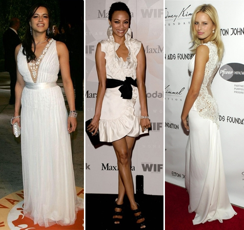 Белые платья звезд фото