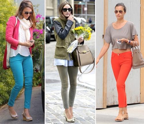 Какие цветные джинсы носят звезды в