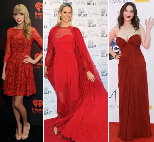 Звезды красное платье