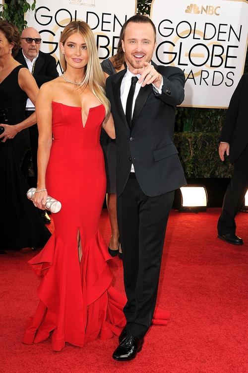 Аарон пол с женой фото