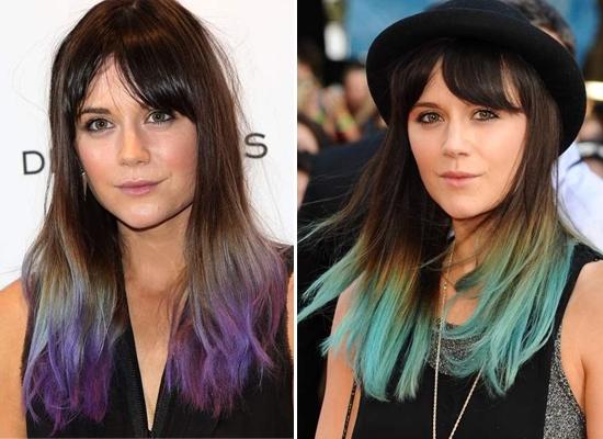 Фото причесок из цветных волос 2