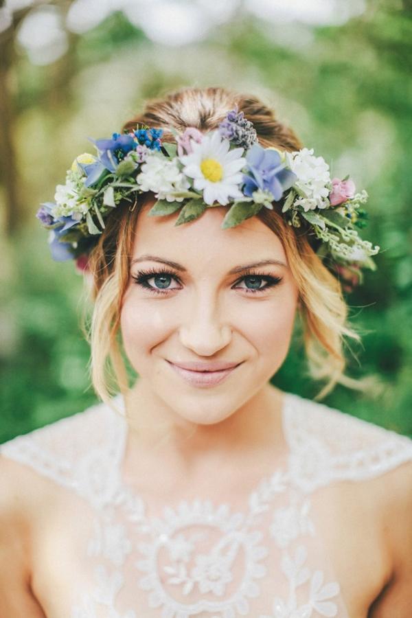 Венок невесты из живых цветов