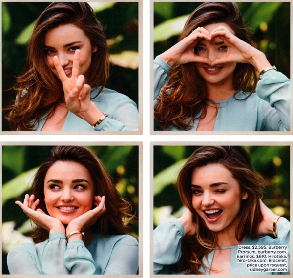 Miranda Kerr for Lucky magazine