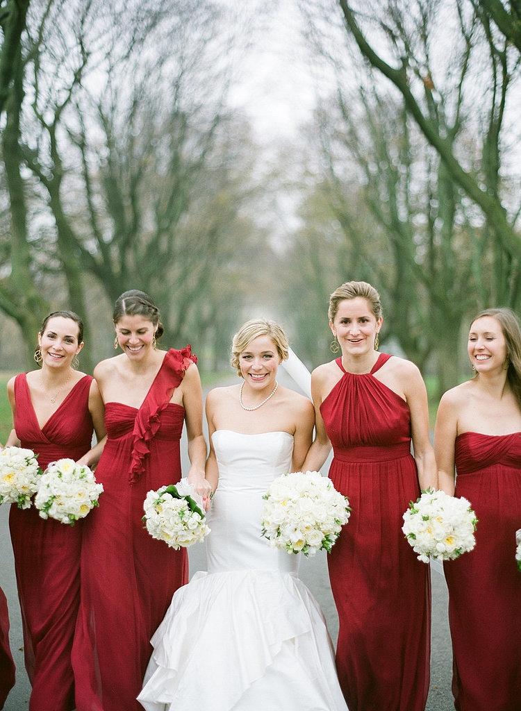 Красное платья для подружек невесты