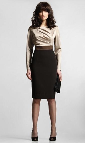 Купить деловое платье офисное в. Женские платья, модные и стильные.