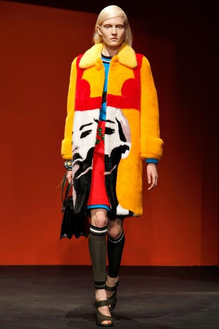 prada coat fur 2014