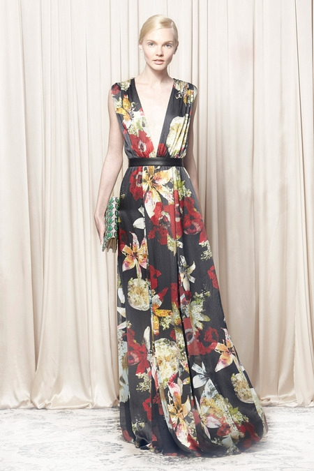 alice&olivia 2014 spring summer dress floral print