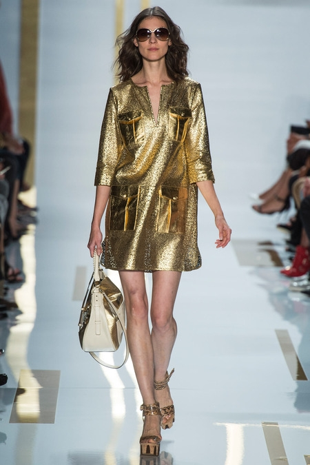 dvf 2014 spring summer disco gold dresses