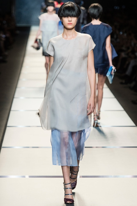 fendi 2014 spring summer midi dress