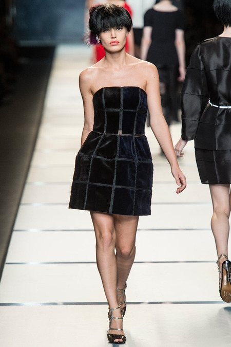 fendi 2014 spring summer black dress