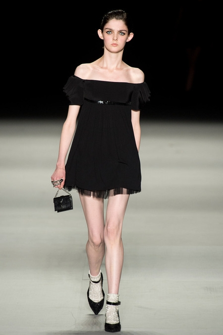 saint laurent paris 2014 spring summer black dress