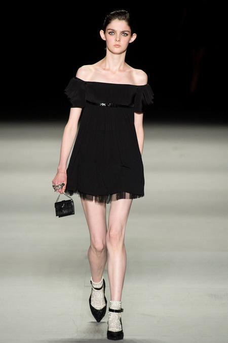 saint laurent paris 2014 spring summer black dress