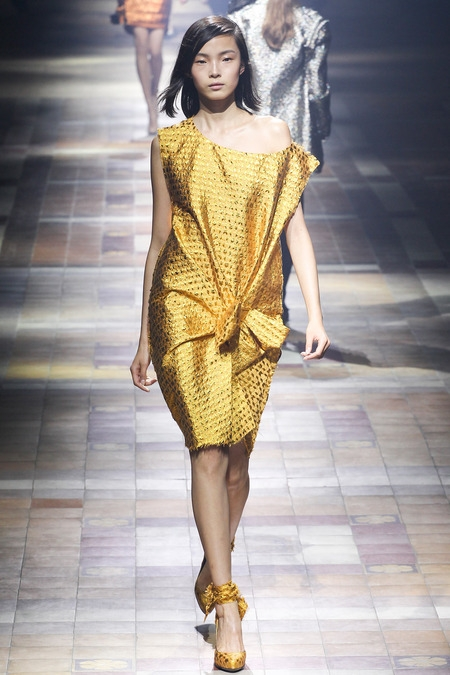 lanvin 2014 spring summer disco gold dresses