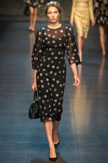 dolce&gabbana 2014 spring summer midi dress