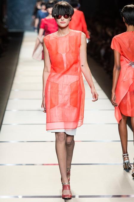 fendi 2014 spring summer organza dress