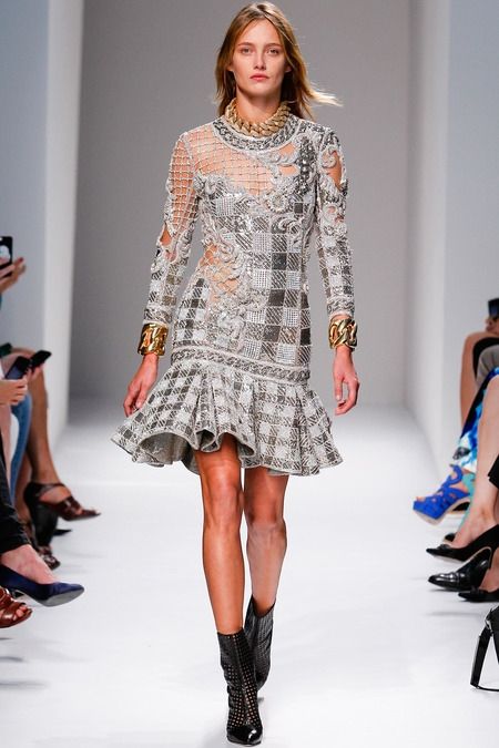 balmain 2014 spring summer dress