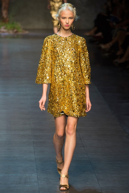 ldolce&gabbana 2014 spring summer disco gold dresses