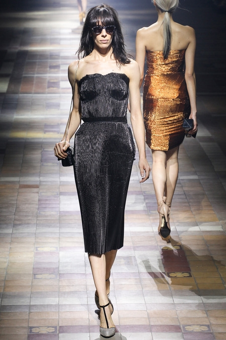 lanvin 2014 spring summer black dress