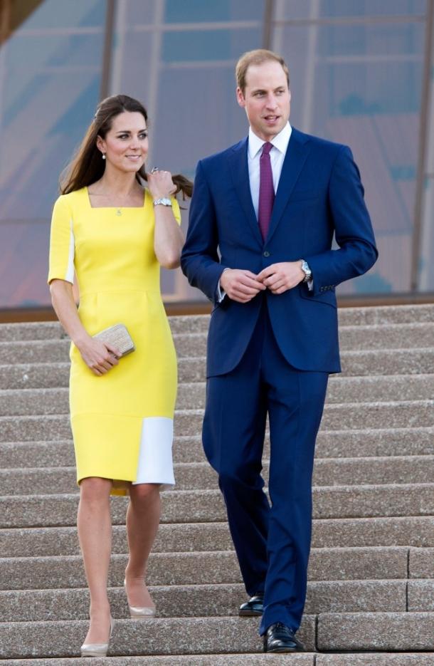 Голубое платье кейт миддлтон