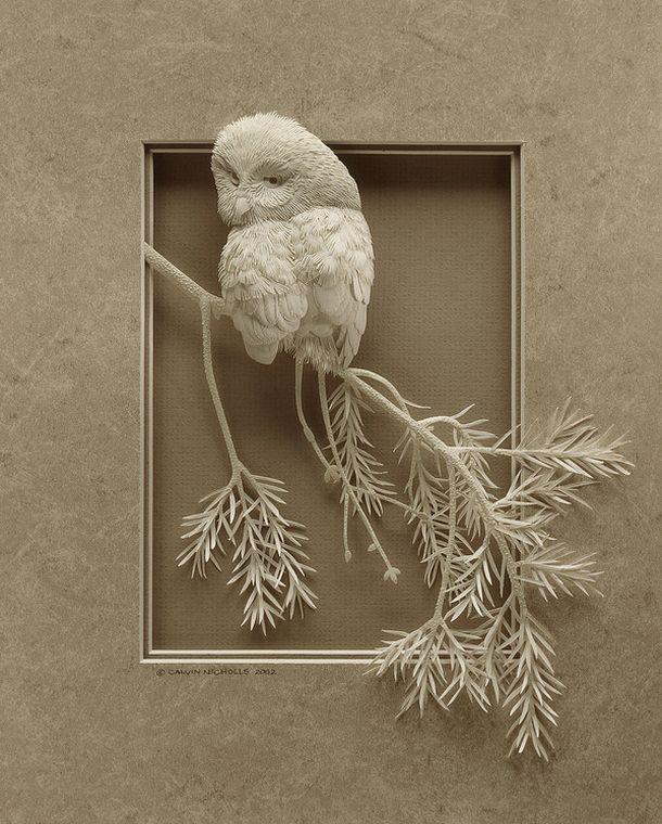 3D-инсталляции из бумаги художницы Кальвин Николс