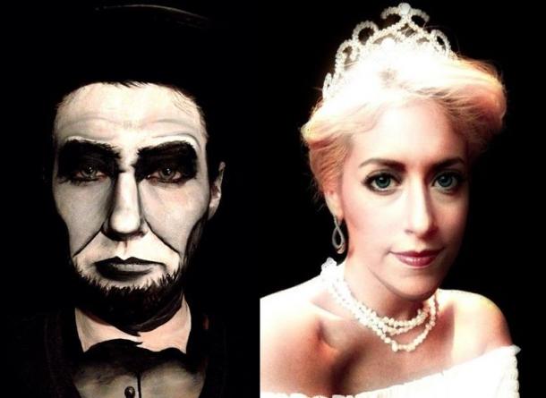 Начинающий визажист Карли Пейдж превращает себя в ... Червонная Королева Хелена