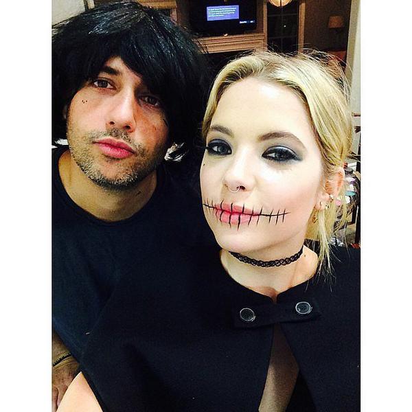 Ashley-Benson-had-intense-stitched-lips-eye-makeup