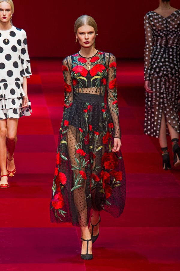 Dolce & Gabbana spring 2015 лядов