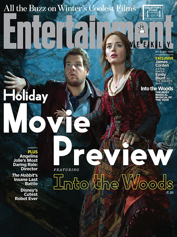 Эмили Блант и Джеймс Корден на обложке  Entertainment Weekly