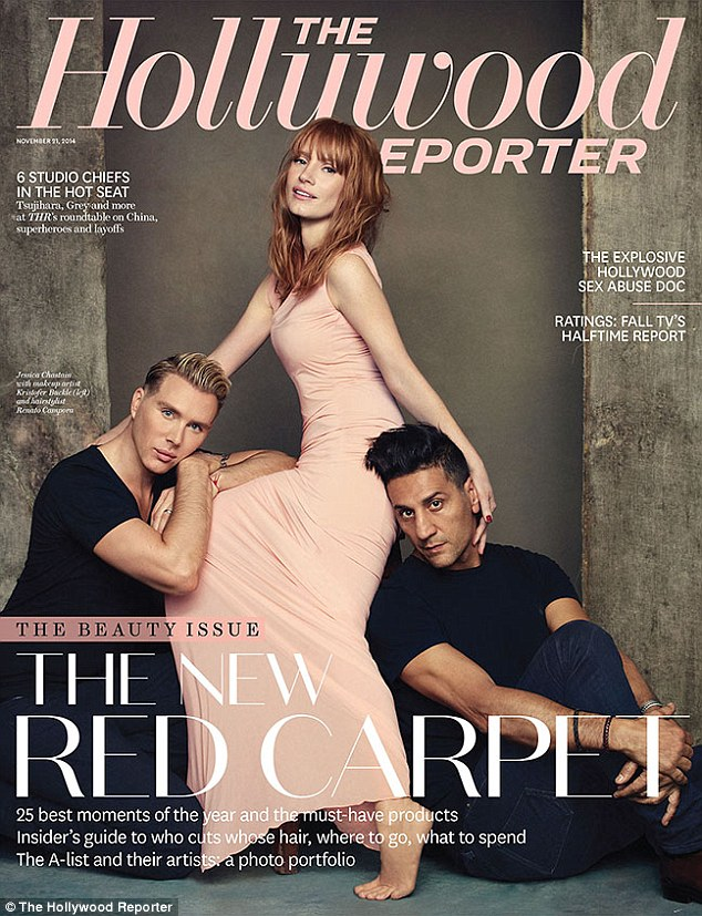 Джессика Честейн на обложке The Hollywood Reporter's Beauty
