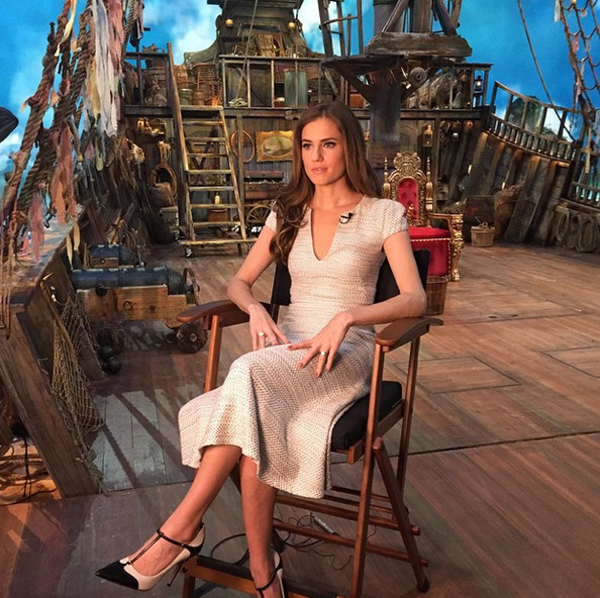 Allison Williams promotes her upcoming 'Peter Pan Live' on-set.