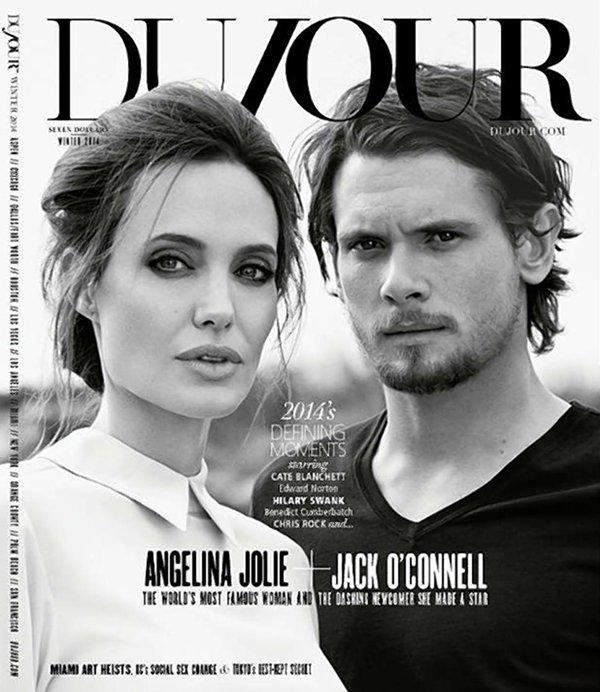 Анджелина Джоли и Джек О'Коннелл  на обложке  DuJour Magazine
