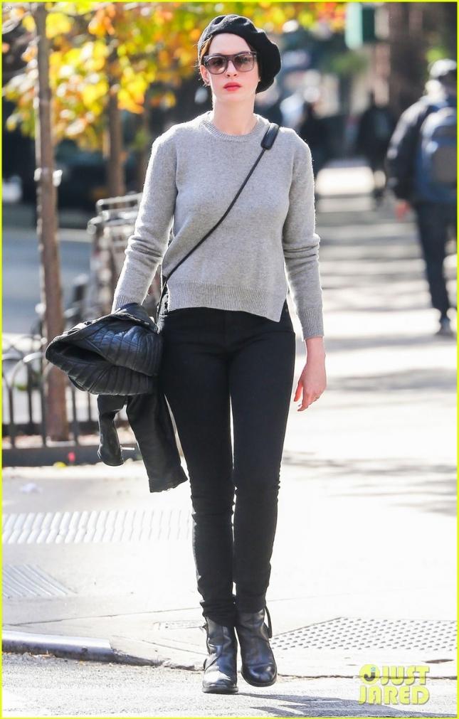 4 ноября: Энн Хэтэуэй в Нью-Йорке