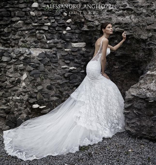 Бьянка Балти в рекламе свадебной коллекции от Alessandro Angelozzi 2015