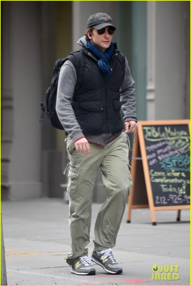 Bradley Cooper seen running errands downtown in NYC