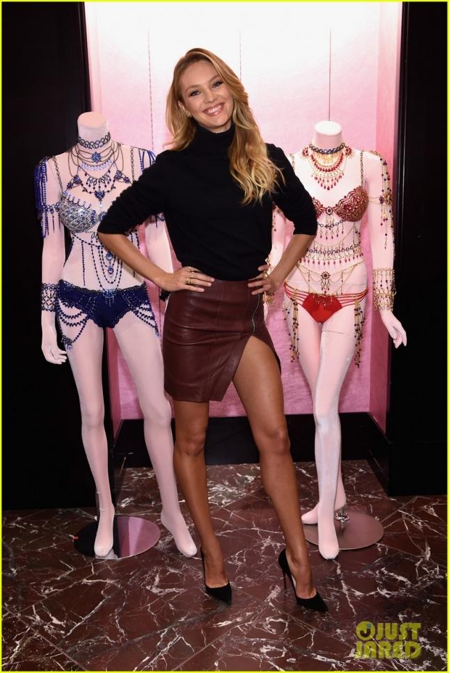 """Кэндис Свейнпол, на которую уповает руководство Victoria's Secret, посетила презентацию """"What Angels want"""" в Нью-Йорке"""