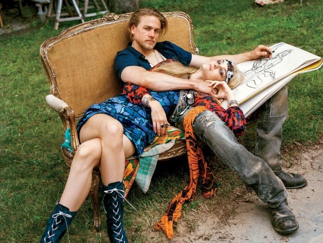 Каролин Трентини, Анна Эверс и Чарли Ханнэм для Vogue США, декабрь 2014